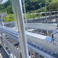 桂沢発電所機器搬入走行クレーン塗装工事05