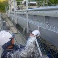 桂沢発電所機器搬入走行クレーン塗装工事06