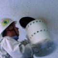 南茅部支所多目的ホール天井アスベスト囲い込み工事1