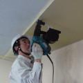 南茅部支所多目的ホール天井アスベスト囲い込み工事4
